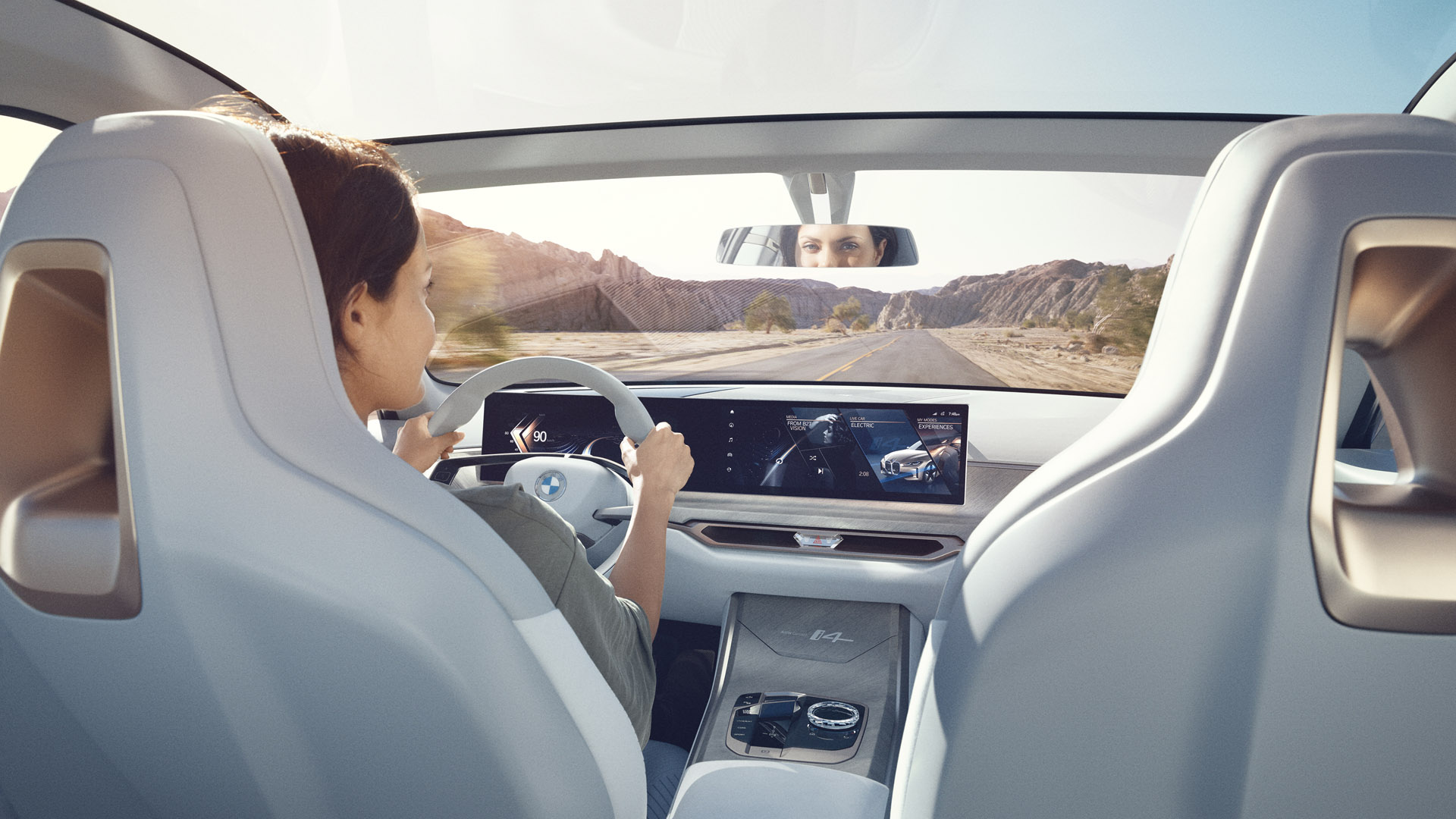 BMW Concept i4 driving