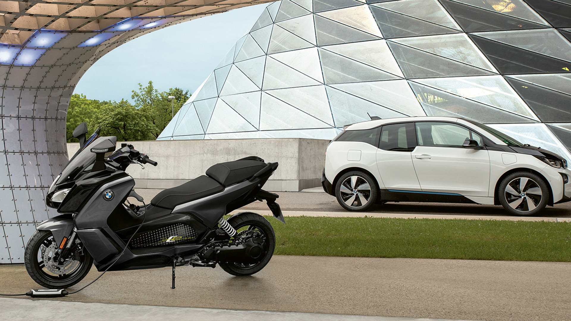 BMW bike and car