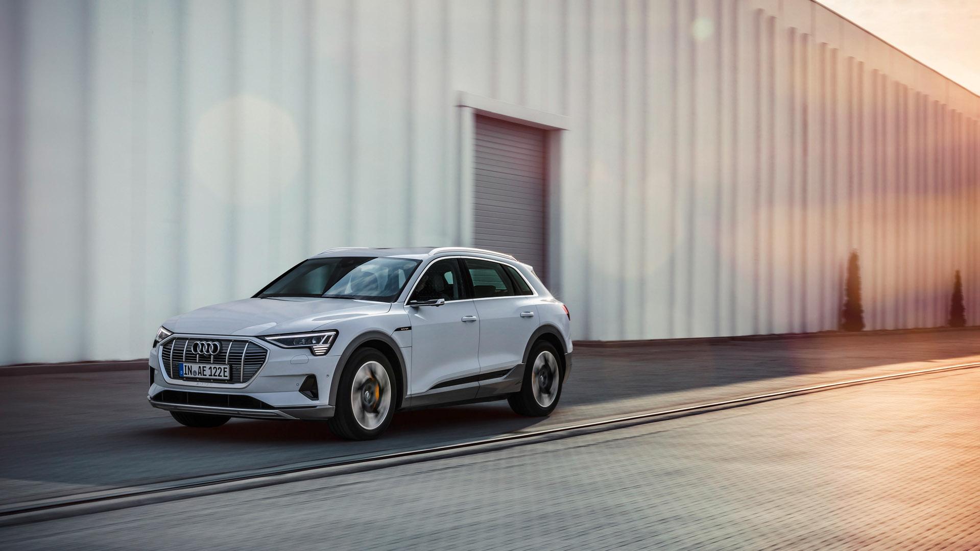 Audi e-tron 50 driving