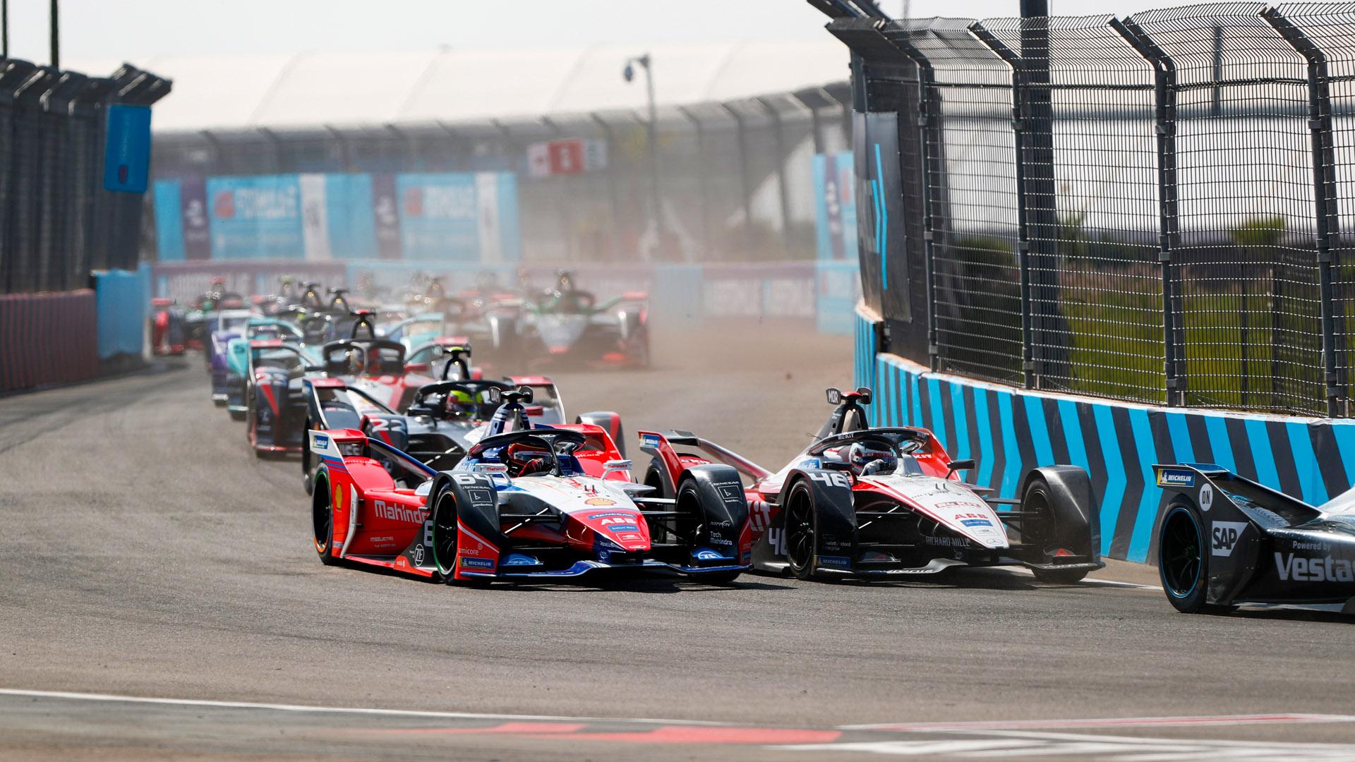 Formula E cornering