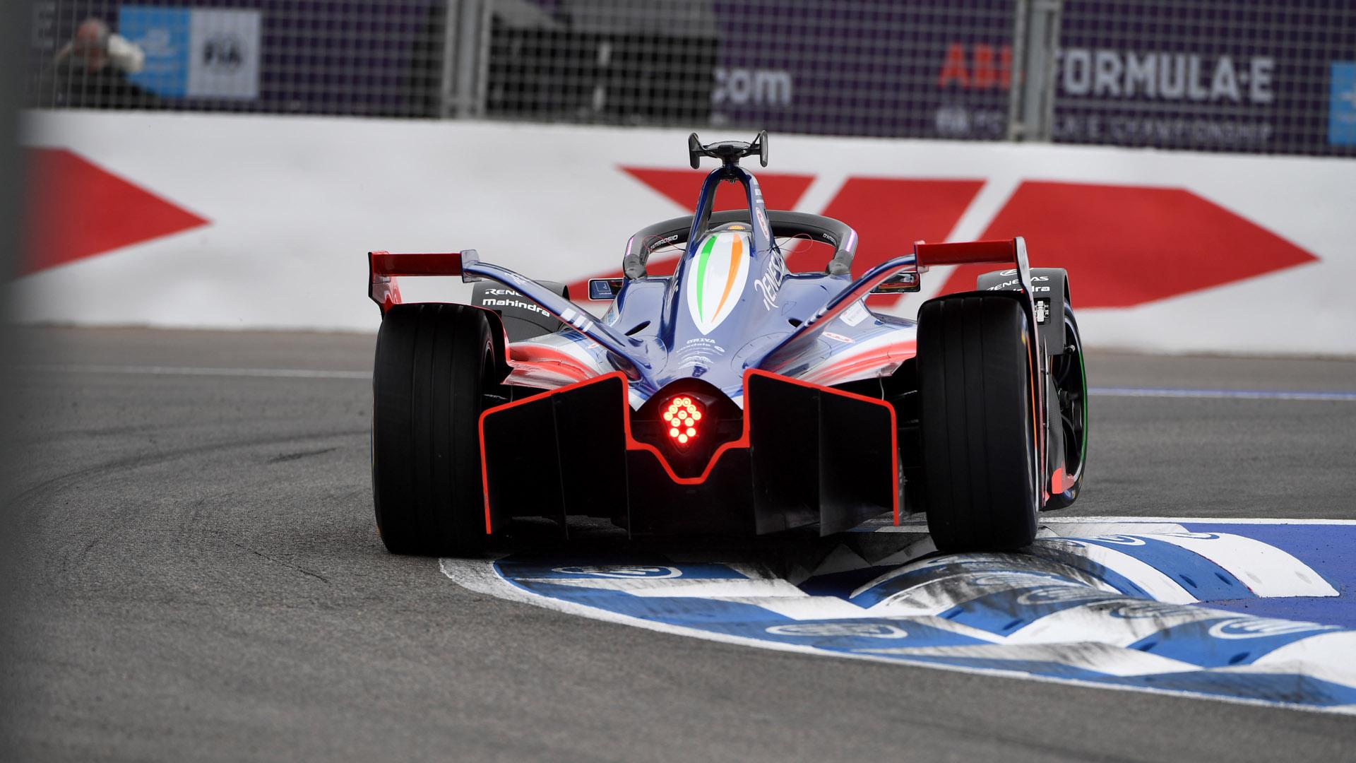 Formula E racecar back