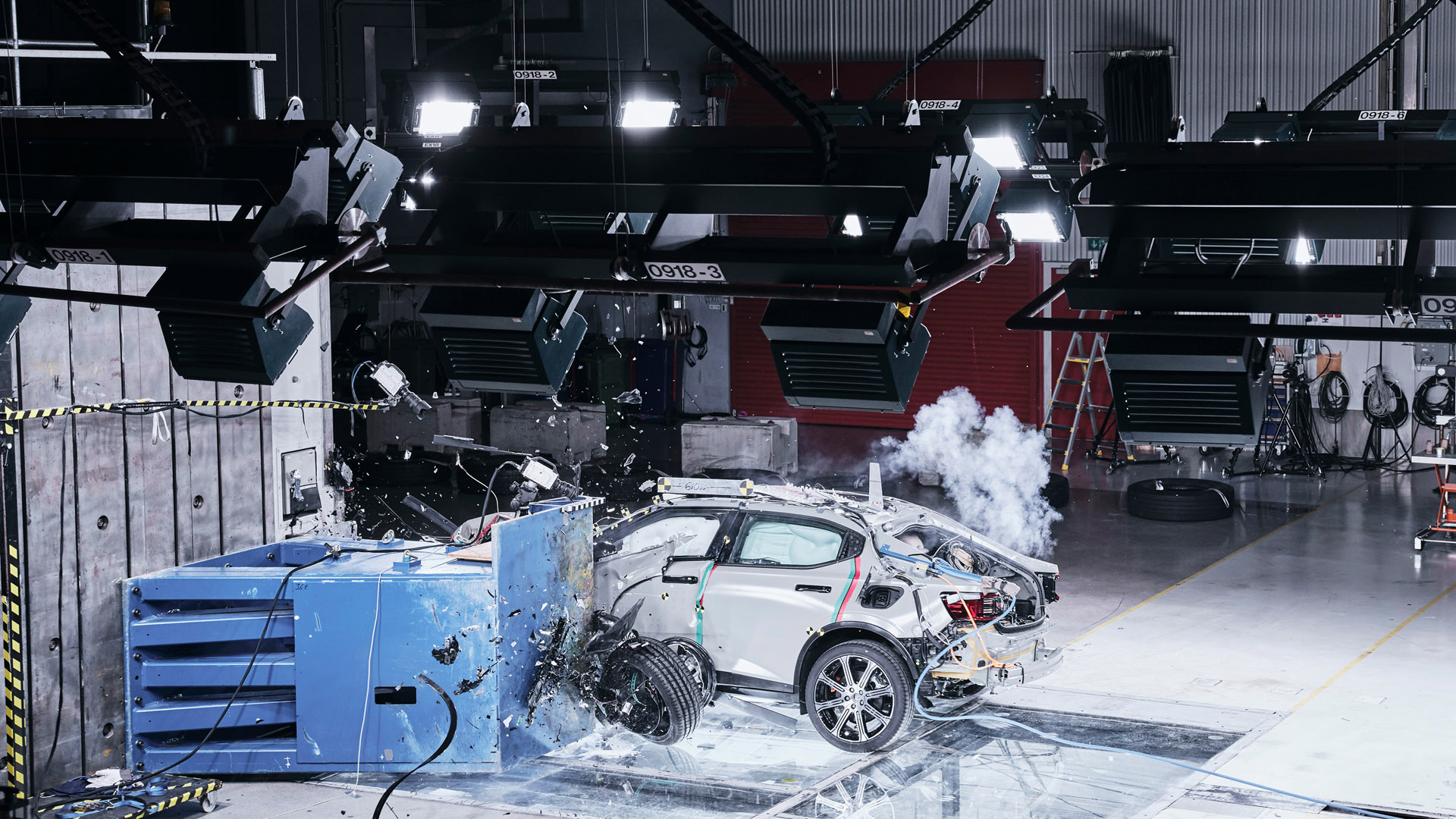 Polestar 2 safety crash