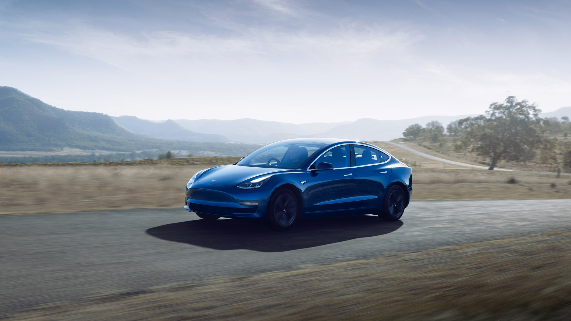 Tesla Model 3 Blue Drive