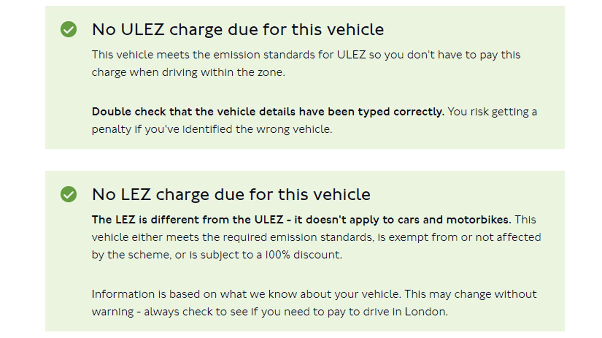 ULEZ charges