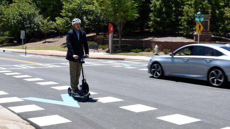 Peachtree Corners scooter driving