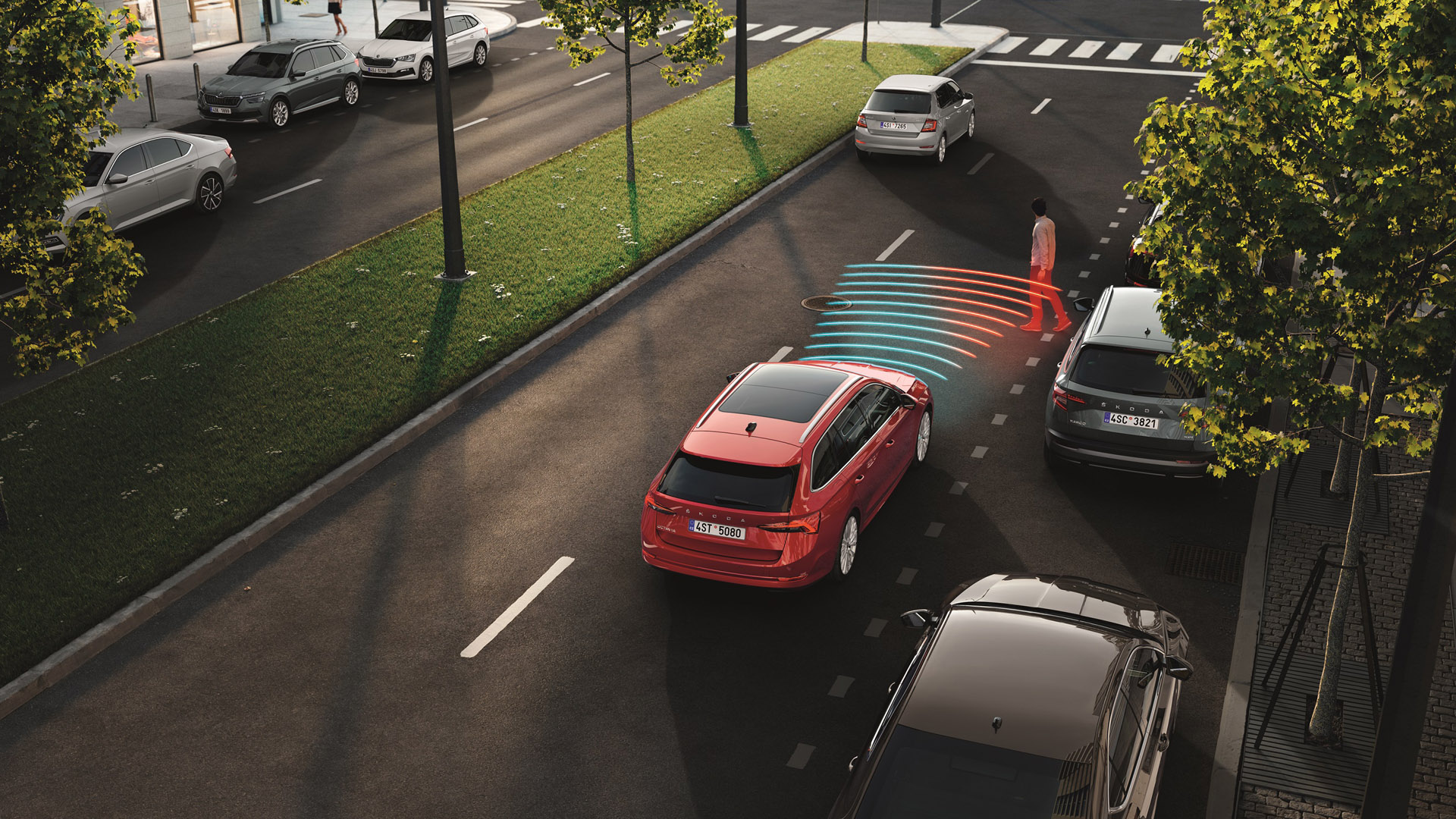 Skoda Front Assist With Pedestrian Protection