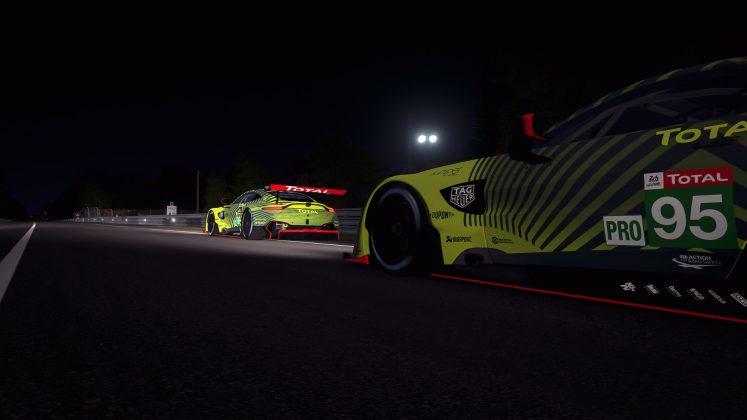Aston Martin Racing Le Mans night