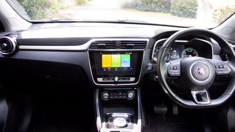 MG ZS EV cabin