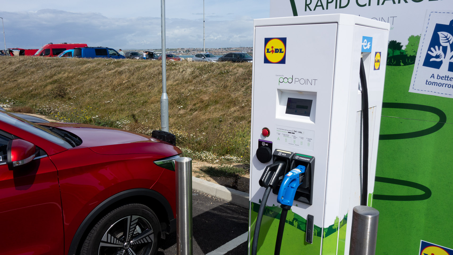 MG ZS EV charging at PodPoint not successful