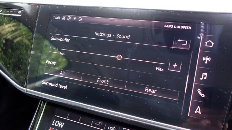 Audi A8 sound setting