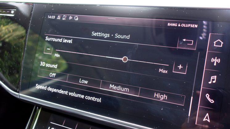 Audi A8 soundstage