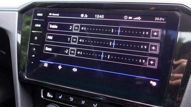 Volkswagen Passat Estate GTE EQ settings