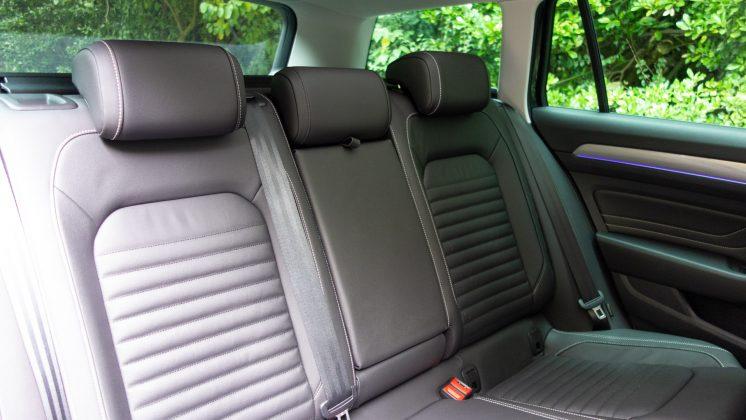 Volkswagen Passat Estate GTE rear seats