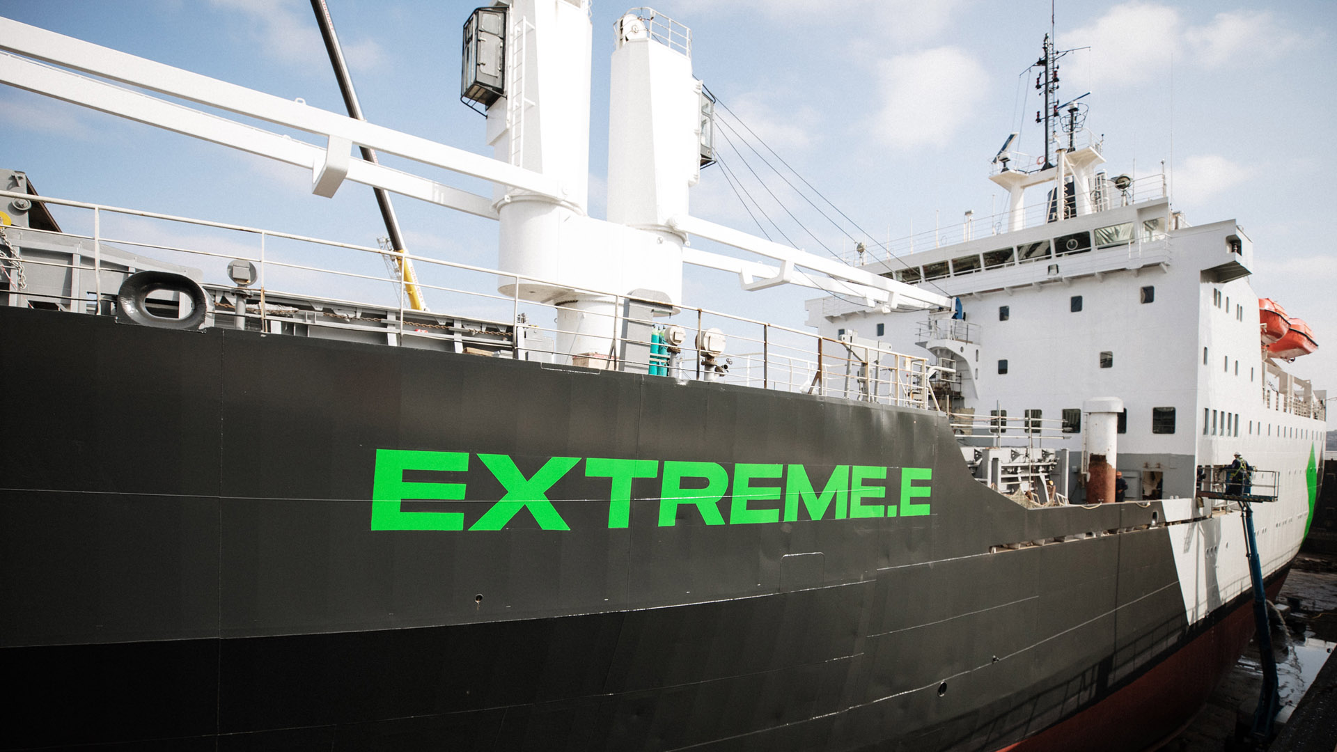 Extreme E St Helena boat