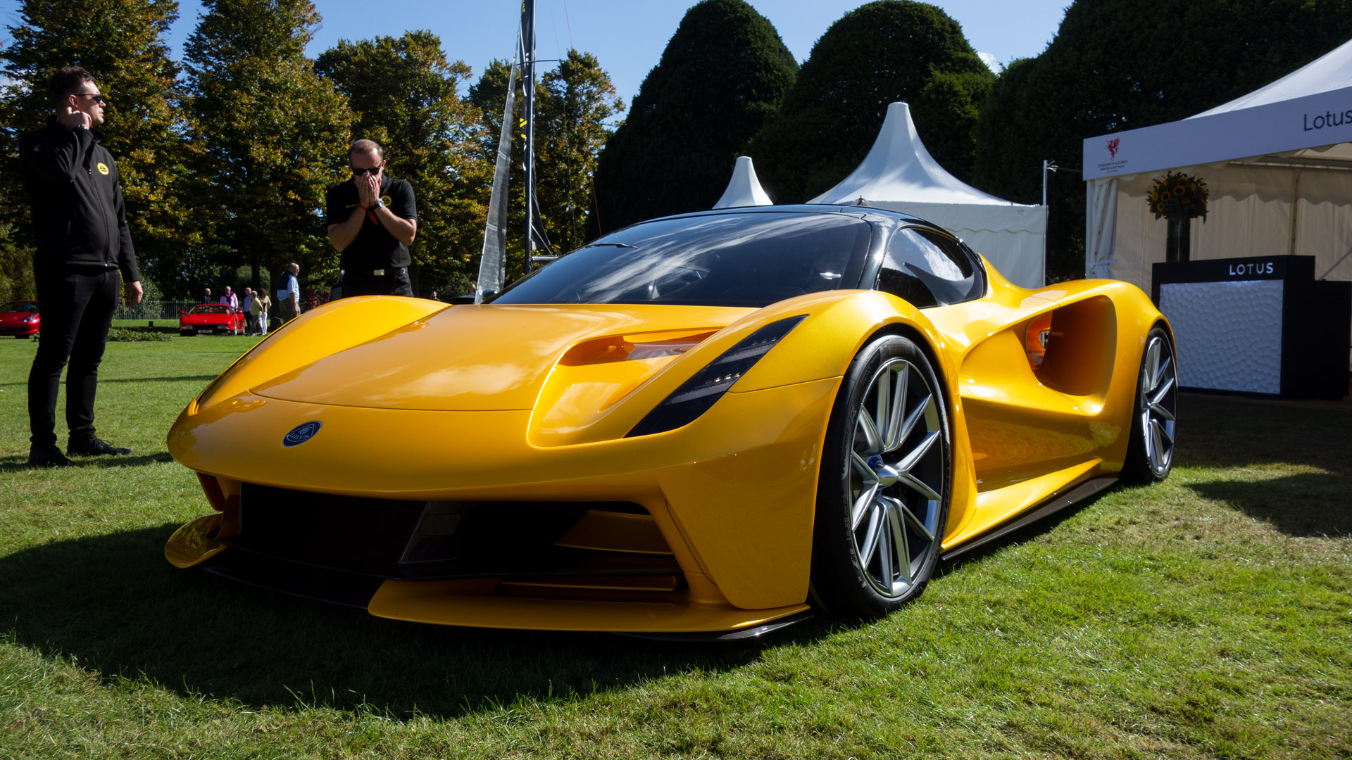 Lotus Evija concours of elegance