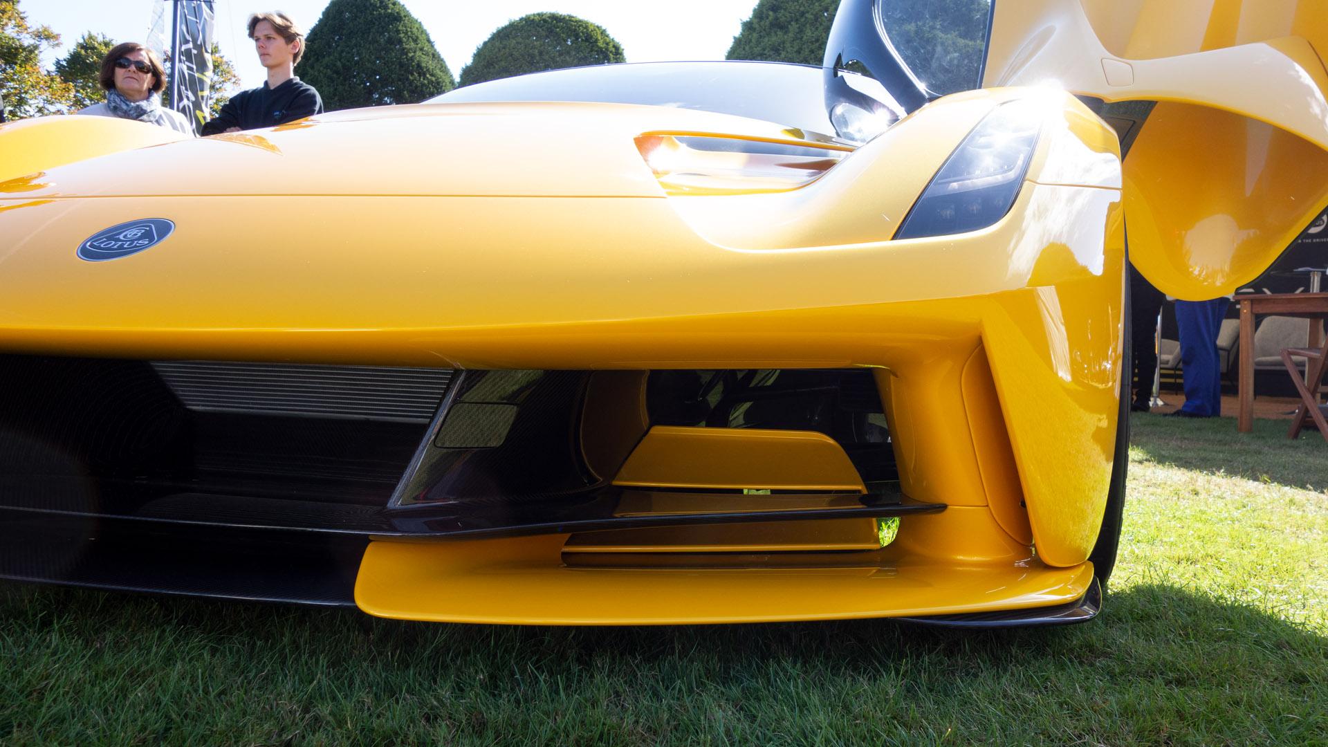 Lotus Evija front aerodynamics