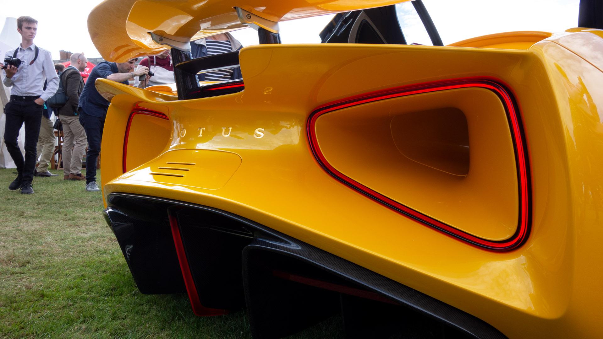 Lotus Evija rear lights