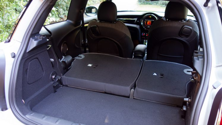 Mini Electric boot space seats down