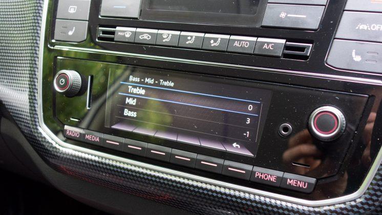 Volkswagen e-up! EQ settings