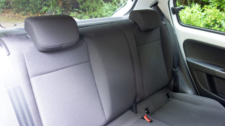 Volkswagen e-up! rear seats