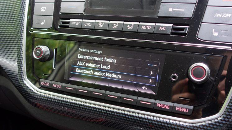 Volkswagen e-up! volume settings