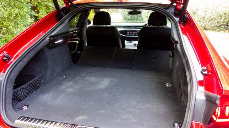 Audi A7 TFSIe boot seats