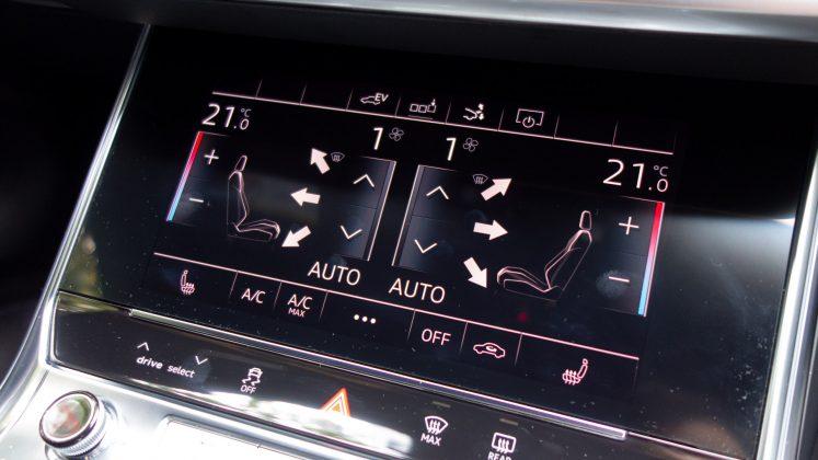 Audi A7 TFSIe climate controls