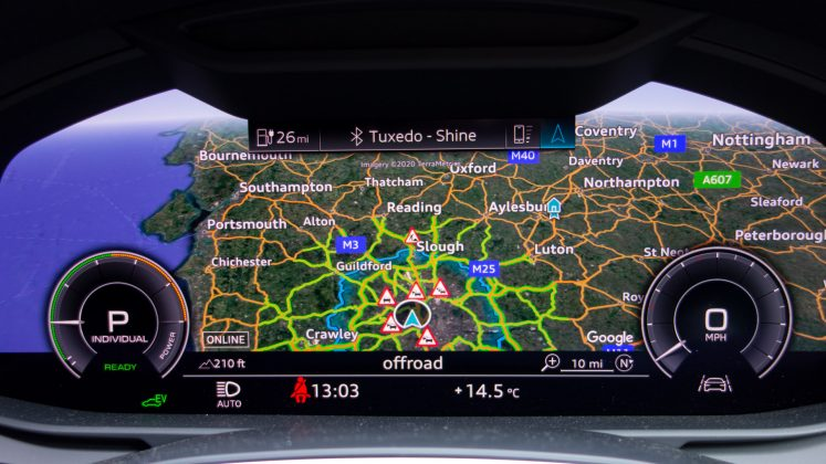 Audi A7 TFSIe instrument maps