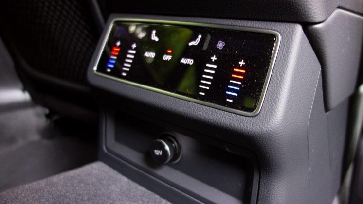 Audi A7 TFSIe rear climate controls