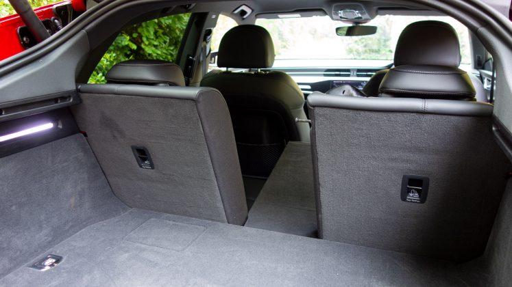 Audi A7 TFSIe rear comaprtment