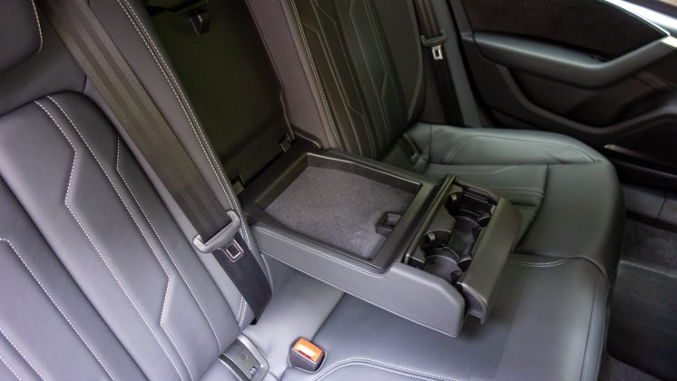 Audi A7 TFSIe rear seat compartment