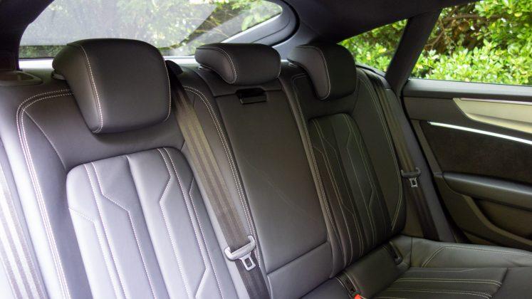 Audi A7 TFSIe rear seats