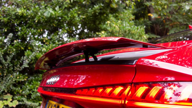 Audi A7 TFSIe retractable spoiler