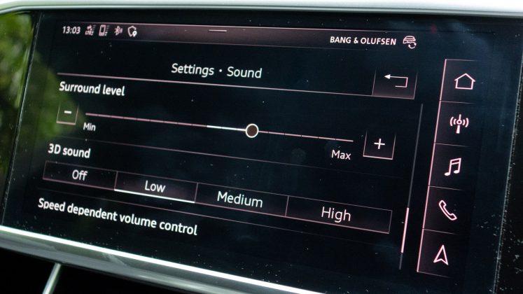 Audi A7 TFSIe sound level