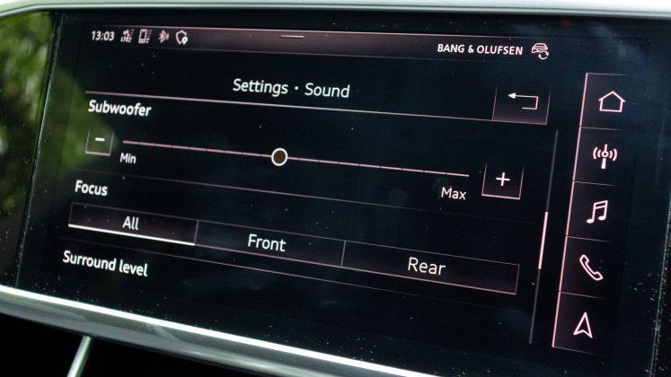 Audi A7 TFSIe sound settings