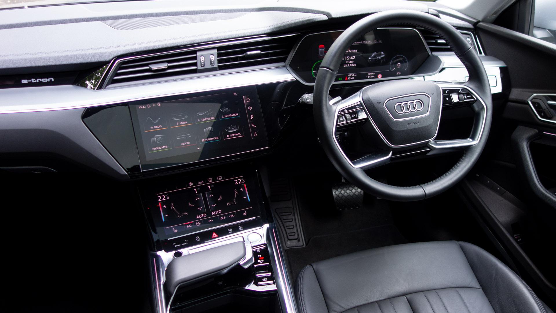 Audi e-tron cabin design