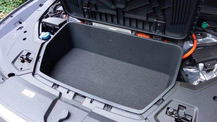 Audi e-tron frunk storage