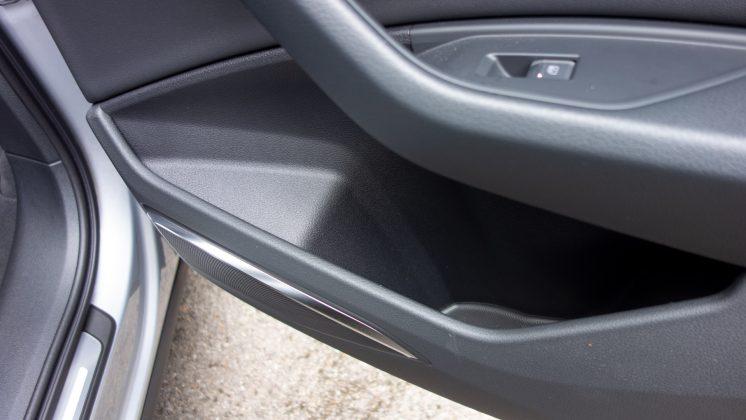 Audi e-tron rear door storage
