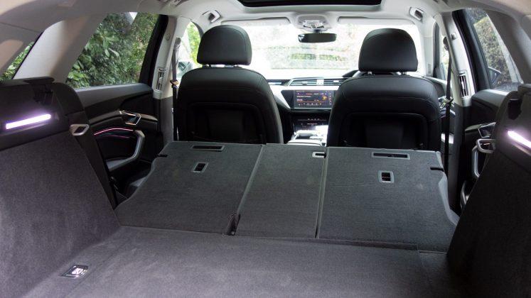 Audi e-tron seats down