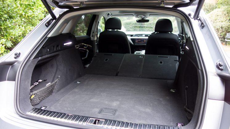 Audi e-tron seats down rear