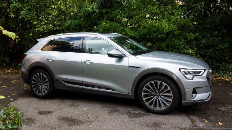 Audi e-tron side profile