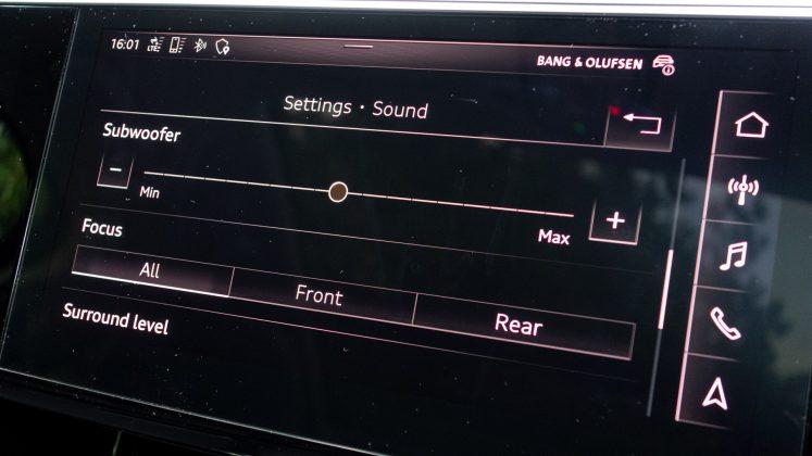 Audi e-tron sound mode