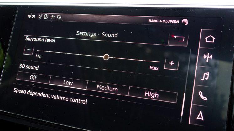 Audi e-tron sound modes
