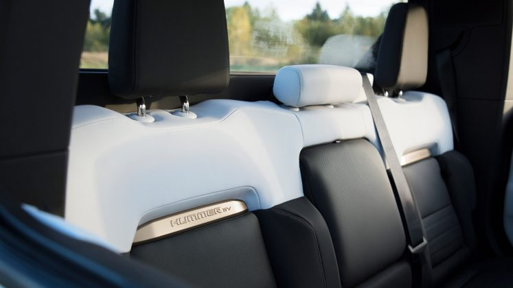 GMC Hummer EV rear seats