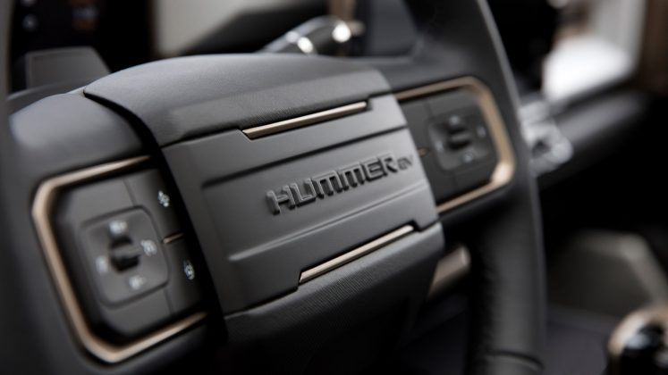 GMC Hummer EV steering wheel