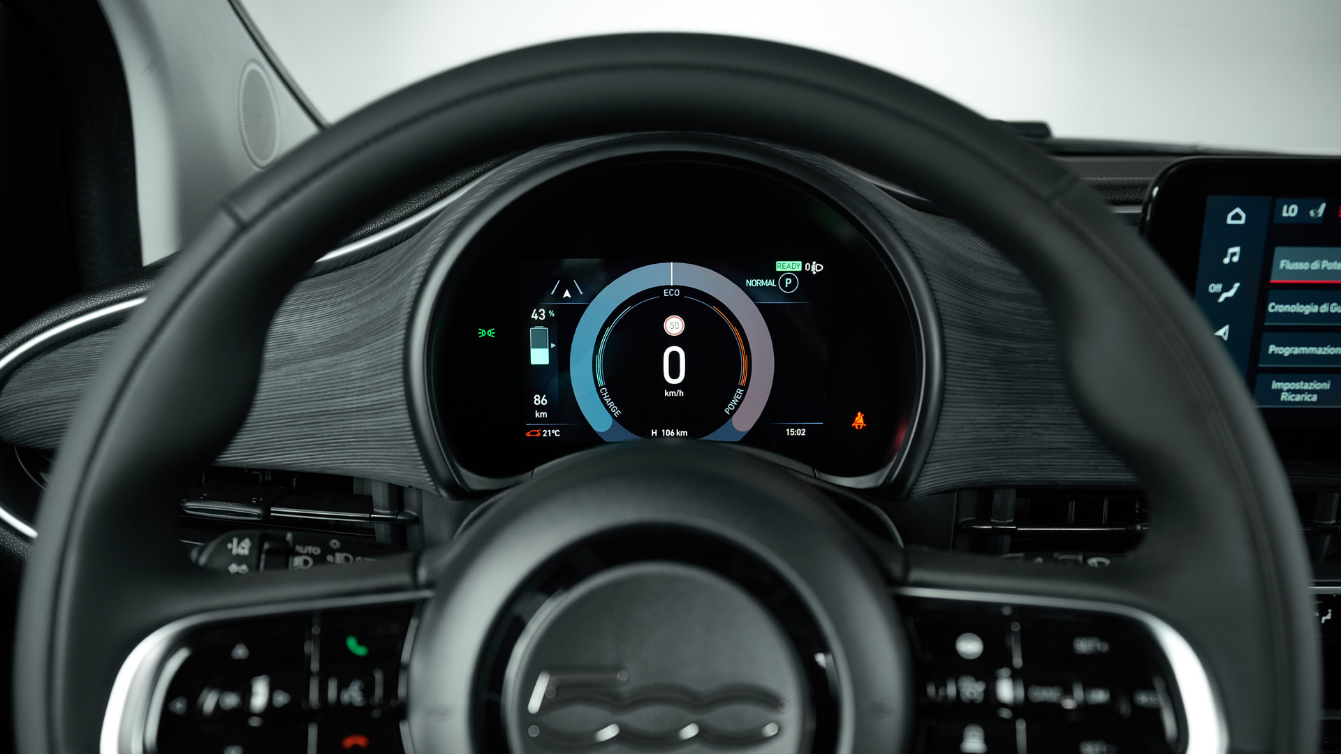 Fiat 500 Electric cluster