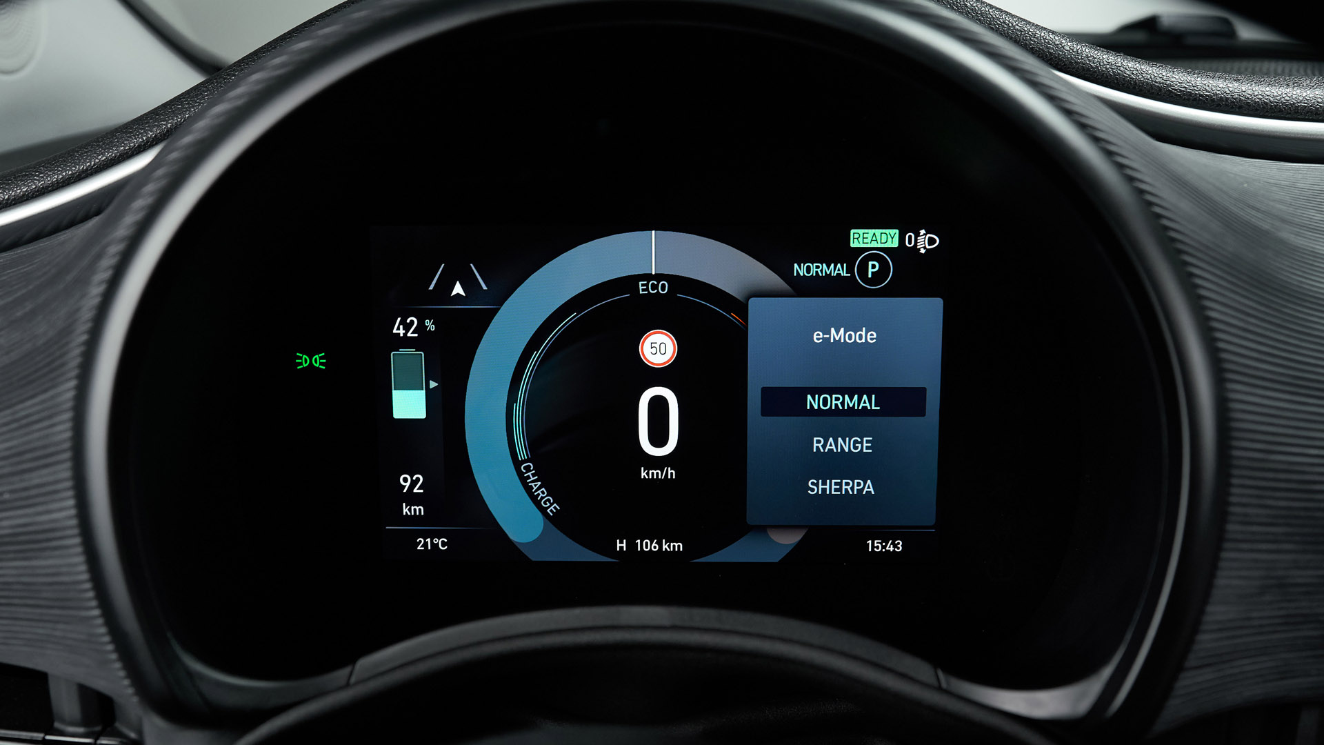 Fiat 500 Electric drive modes