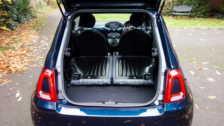 Fiat 500 Hybrid boot capacity