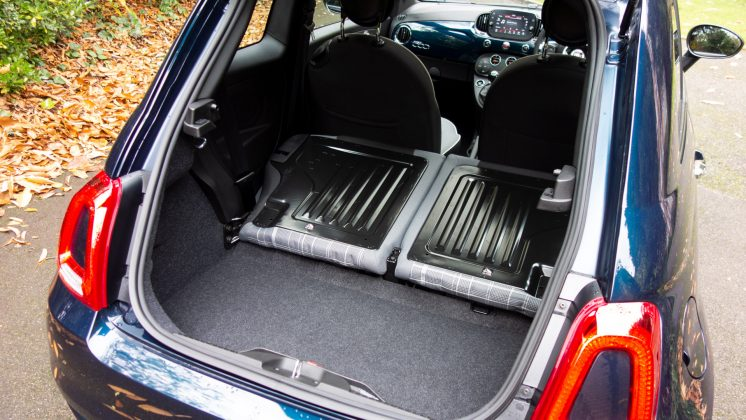 Fiat 500 Hybrid boot space