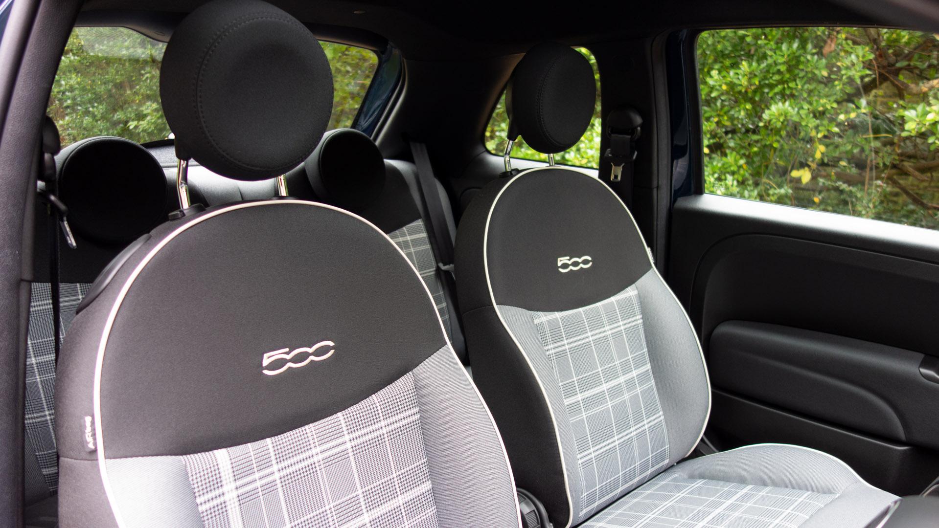 Fiat 500 Hybrid seats